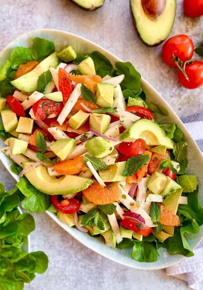 Jicama, Avocado, and Orange Salad