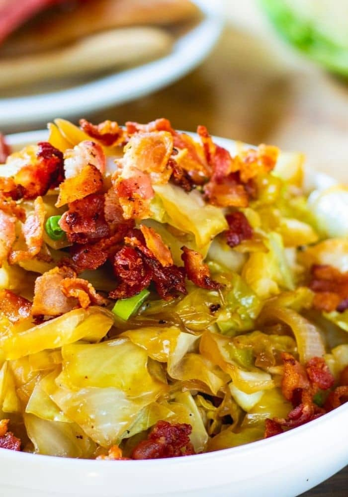 Sweet and Sour Cabbage with Bacon